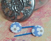 Flower Button Hair Bobby Pins
