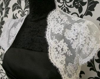 Lace Bolero in French Alencon Lace