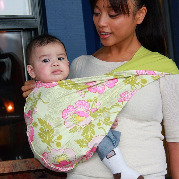 Baby Sling Wrap Carrier in Lola- Size L & XL Only - Last of my inventory on this fabric
