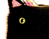 Black Furry Cat Pouch