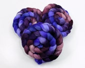 Polwarth Wool / Silk Roving - Hand painted Felting or Spinning Fiber