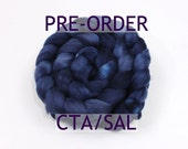 "PRE-ORDER - CTA Spinalong - ""Navy"" in Merino/Silk"