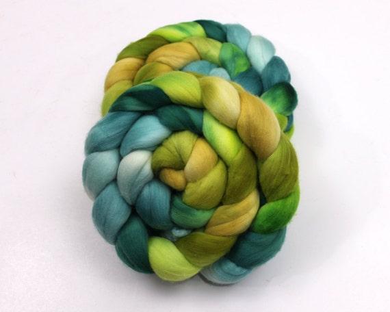 Australian Merino Wool Roving - 15.5 Micron - Handpainted Fiber for Spinning or Felting