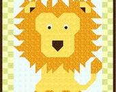 Lion Quilt Pattern 101 - pdf format