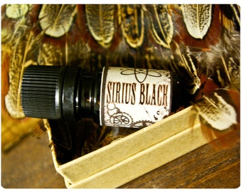 sirius black - natural cologne oil - 1/6 oz - immortelle flowers, teak & musk