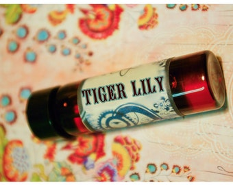 tiger lily - natural perfume oil - 1/2 oz of calla lily and juniper woods meticulously forged to be an exercise in seduction
