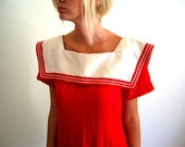 red and white sailor tunic medium