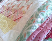 Sweet Quilt . . . play, travel, cradle, cot, comfort or a gorgeous gift