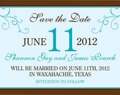 DIY Printable Save the Date Invitation - Customizable for Printing or Emailing 4 X 6 or 5 X 7.....by Maxim Creative Invites