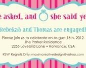 DIY Printable Invitation - Engagement Party, Wedding invitation, Party Invitation, Couples Shower Invitation, Rehearsal Dinner Invitation