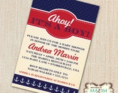 DIY Printable Invitation - Baby Shower Invitation, Nautical Invitation, Nautical Baby Shower...by Maxim Creative Invites