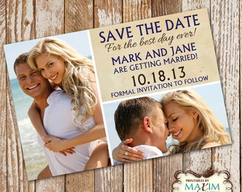 DIY Printable Save the Date Photo Invitation, Save the Date Invitation.....by Maxim Creative Invites