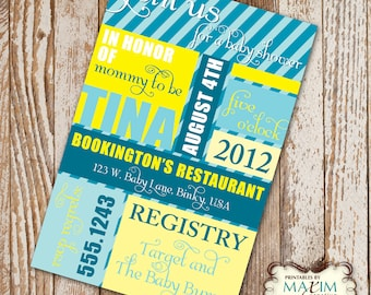 DIY Printable Invitation - Baby Shower Invitation, Party Invitation....by Maxim Creative Invites