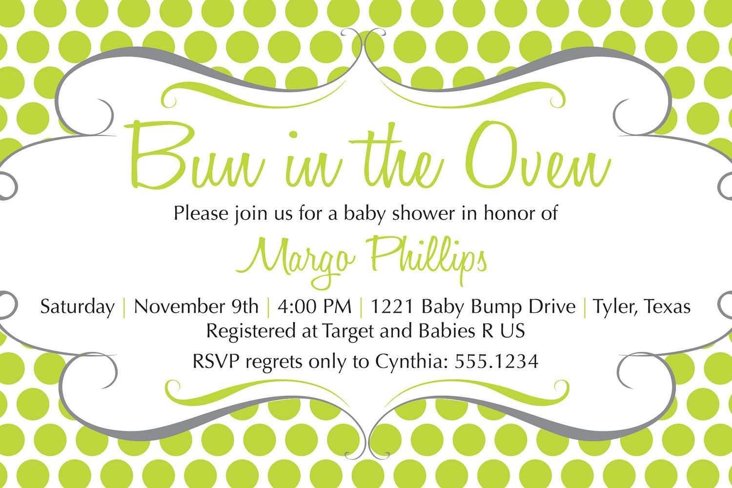 Bun In The Oven Invitation for amazing invitation sample