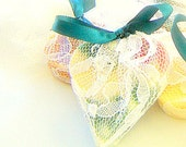 Heart Shaped Soap Bridal Shower Favors in Lace qty 25 / Fall Wedding Favors