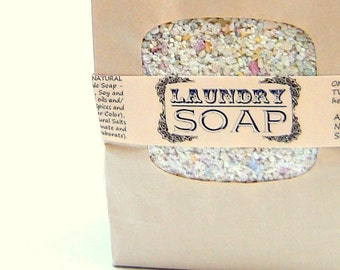 BULK Laundry Soap- 1 1/2 pounds  64 loads HE All Natural no detergents