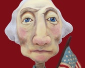 God and Country - Original sculpted Art Doll