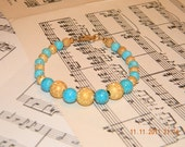 Turquoise Riverstone and Stardust Bracelet