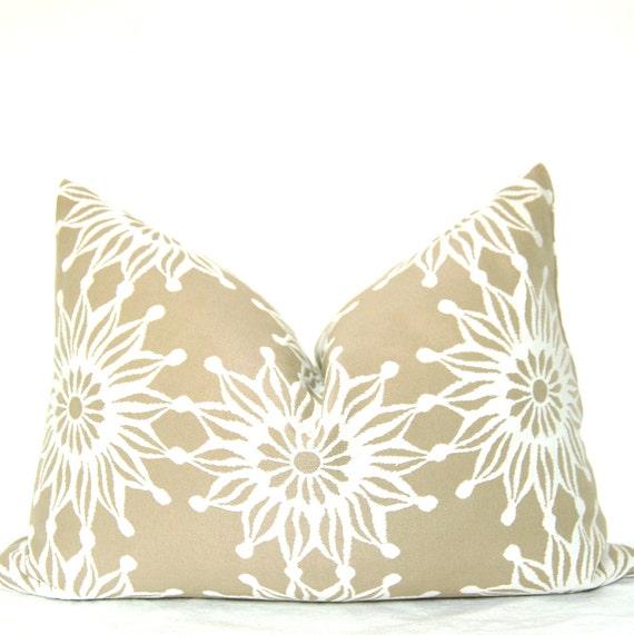 Pillow Cover - Decorative Pillow - Lumbar Pillow - Throw Pillow - Doily Design - Jacquard - 12x18 in - Lace