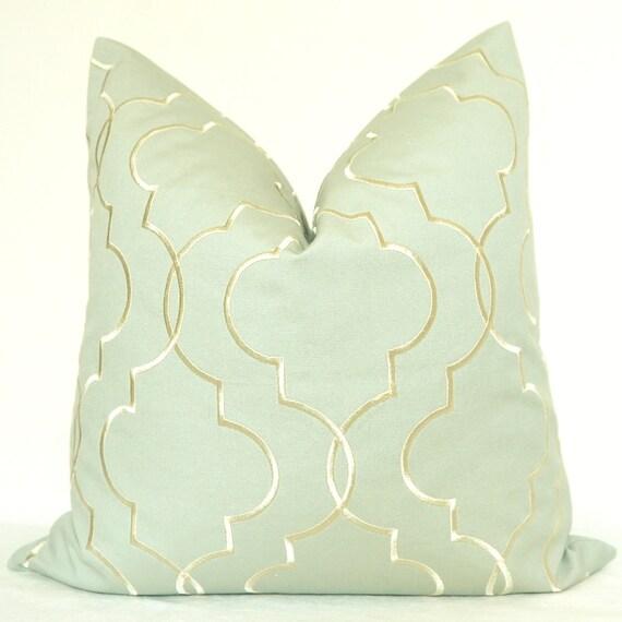 Pillow Cover, Decorative Pillow, Throw Pillow, Sofa Pillow, Toss Pillow, Grayish Blue, Embroidery, Home Furnishing, Home Decor