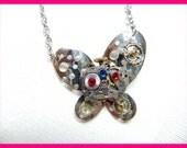 Steampunk Necklace CAN'T FIGHT This FEELING Vintage Pendant Butterfly