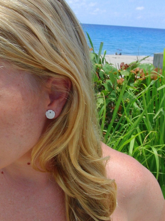 Small Sand dollar earrings