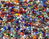 1000 Assorted Miniature Glass Firestone Marbles by J. R. Hooper