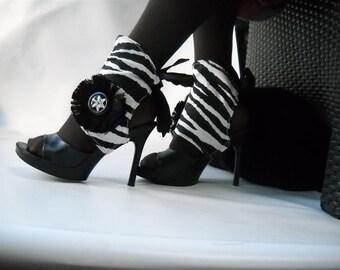 Sexy Spat-  in  Zebra -Black and white ref z4x