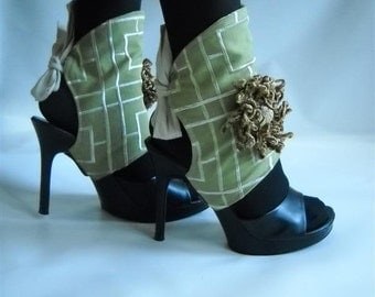 Spats by J Souza -  ref gl3s- Elegance in  Lime Green
