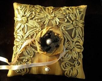 Ring Bearer Pillow-In Gold  8x8
