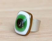 Fused Glass - Sterling Silver Band