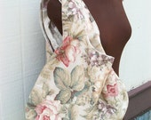 Recerved listing for Whatnotantiques-Reversible Bag- Floral Prints- Cream, Rose and Ivory