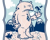 The Monster Battles The Band of Horses Art Print - El Jefe Design