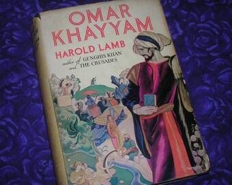 1936 edition, Omar Kayyam by Harold Lamb, HC, DJ, Excellent Condition