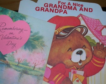 Lot of Two Vintage Valentine Day Cards