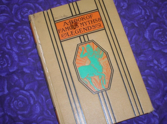 1947, A Book of Famous Myths and Legends, Young Folks Library, HC, Illustrated, Excellent Condition