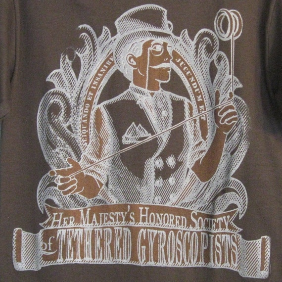 Tethered Gyroscopists T-Shirt in Brown