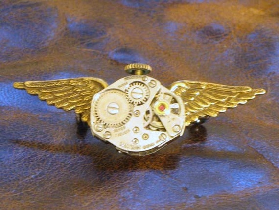 Clockwork Winged Pin
