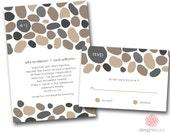 SAMPLE SET Pebbles Wedding Invitation