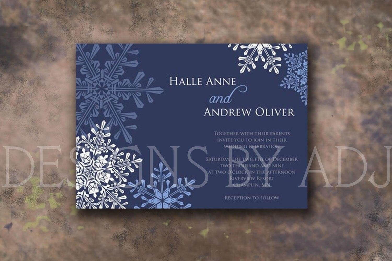 Winter Wedding Invites is good invitations layout