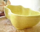 Vintage Planter Lemon Yellow
