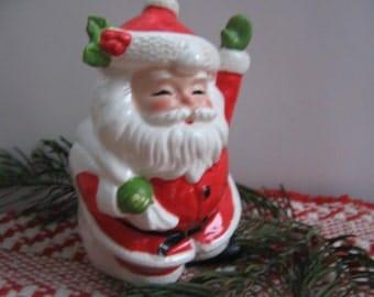 Vintage Santa Bank Christmas