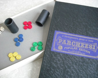 Vintage Board Game 1957 Complete Parcheesi