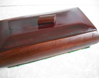 Vintage Jewlery Box Wooden Keepsake