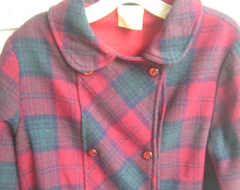 Vintage Plaid Jacket Girl Size 6X