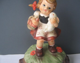 Vintage Music Box Hummel Like Girl