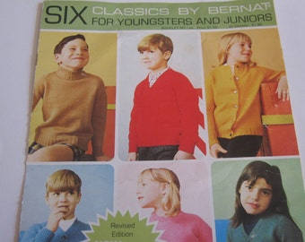 Vintage Knitting Book Children Sweaters