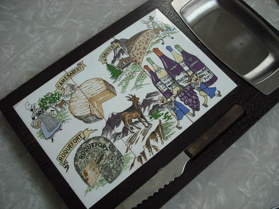 Vintage Cheese Board Stainless Tray Japan