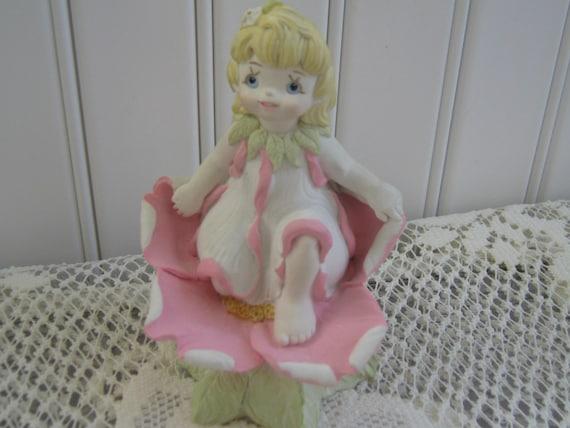 Vintage Figurine Blossom Girl