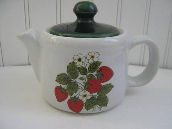 Vintage McCoy Teapot Strawberry Design